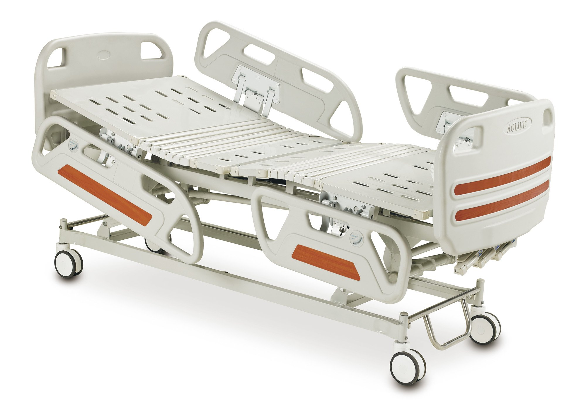 Three Central function ICU bed with brakes ALK06-A329P-B